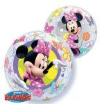 """Mintás Bubbles lufi 22"""" 56cm Hélimmal töltve Disney Minnie Mouse, 41065"""