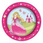 Papírtányér 23cm 8db (Princess, Autó)