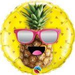 """Fólia lufi 18"""" 45cm pineapple, ananász, 57271, héliummal töltve"""
