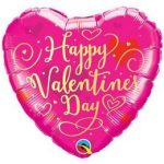 "Fólia lufi 18"" 45cm ""Happy Valentines Day "" szív, 54838"