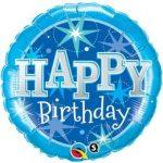 """Szülinapi fólia lufi 18"""" 45cm Happy Birthday, 37919"""