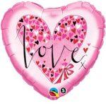 """Fólia lufi 18"""" 45cm LOVE szív, 61881"""