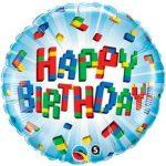 """Szülinapi fólia lufi 18"""" 45cm Happy Birthday, 25541"""