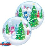 """Karácsonyi Bubbles lufi 22"""" 56cm Héliummal töltve"""