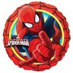"""Fólia lufi 17"""" 43cm Spiderman, Pókember, 2635001, héliummal töltve"""