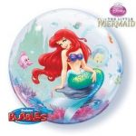 """Mintás Bubbles lufi 22"""" 56cm Hélimmal töltve Disney Hableány, 60166"""