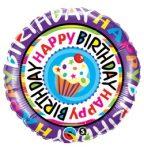 """Szülinapi fólia lufi 18"""" 45cm Happy Birthday"""
