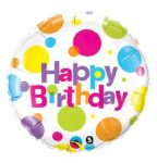 """Szülinapi fólia lufi 18"""" 45cm Happy Birthday, 29827"""