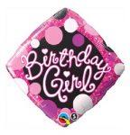 "Szülinapi fólia lufi 18"" 45cm Birthday Girl, 29592"
