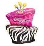 """Szülinapi fólia lufi 41"""" 104cm óriás fólia Happy Birthday, torta, 16081"""