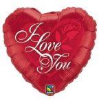 """Fólia lufi 18"""" 45cm """"I love you"""" szív, 24489"""