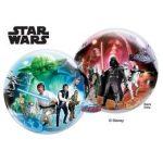 """Mintás Bubbles lufi 22"""" 56cm Hélimmal töltve Disney Star Wars, 10474"""