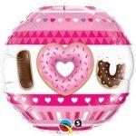 """Fólia lufi 18"""" 45cm """"I love you"""", fánk, donut, 21829"""
