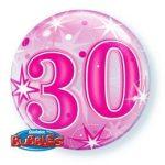 """Számos Bubbles szám lufi 22"""" 56cm 30 Héliummal töltve, 43124"""
