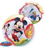 """Mintás Bubbles lufi 22"""" 56cm Hélimmal töltve Disney Mickey Mouse, 41067"""