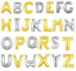 """Betű lufi 31"""" 80cm óriás arany fólia betű, C betű, Héliummal töltve"""