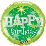 """Szülinapi fólia lufi 18"""" 45cm Happy Birthday, 37924"""