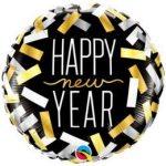 "Fólia lufi 18"" 45cm Happy New Year"