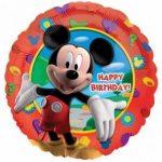 "Szülinapi fólia lufi 18"" 45cm Happy Birthday, Mickey Mouse, 1405501"