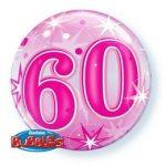 """Számos Bubbles szám lufi 22"""" 56cm 60 Héliummal töltve, 43127"""