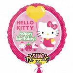 """Éneklő, zenélő lufi 28"""" (71cm) Happy Birthday, Hello Kitty, 2588563"""