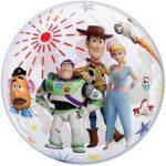 """Mintás Bubbles lufi 22"""" 56cm Hélimmal töltve Disney Toy Story, 25871"""