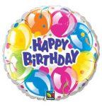 """Szülinapi fólia lufi 18"""" 45cm Happy Birthday, 78155"""