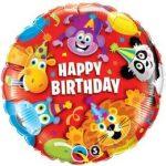"""Szülinapi fólia lufi 18"""" 45cm Happy Birthday, 14182"""