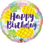 """Szülinapi fólia lufi 18"""" 45cm Happy Birthday, ananas, ananász, 57268"""