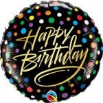 """Szülinapi fólia lufi 18"""" 45cm Happy Birthday, 57295"""