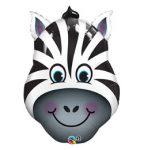 """Óriás fólia lufi 32""""  zebra, 16166, héliummal töltve"""