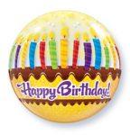 """Szülinapi Bubbles lufi 22"""" 56cm Héliummal töltve Happy Birthday, 10398"""