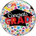 """Ballagási Bubbles lufi 22"""" 56cm Héliummal töltve Congrats grad, 47366"""