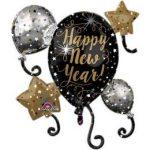 """Óriás fólia lufi 29"""" 73cm Happy New Year szilveszteri lufi, 3399801"""