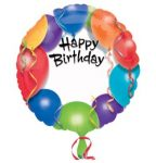"""Szülinapi fólia lufi 18"""" 45cm Happy Birthday, feliratozható, 1579101"""