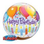 """Szülinapi Bubbles lufi 22"""" 56cm Héliummal töltve Happy Birthday, 25719"""