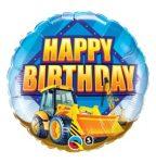 """Szülinapi fólia lufi 18"""" 45cm Happy Birthday, markológép, 36487, héliummal töltve"""
