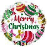 """Karácsonyi fólia lufi 18"""" 45cm Merry Christmas"""